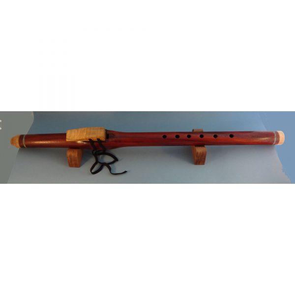 handmade paduk wooden flute with turquoise inlay