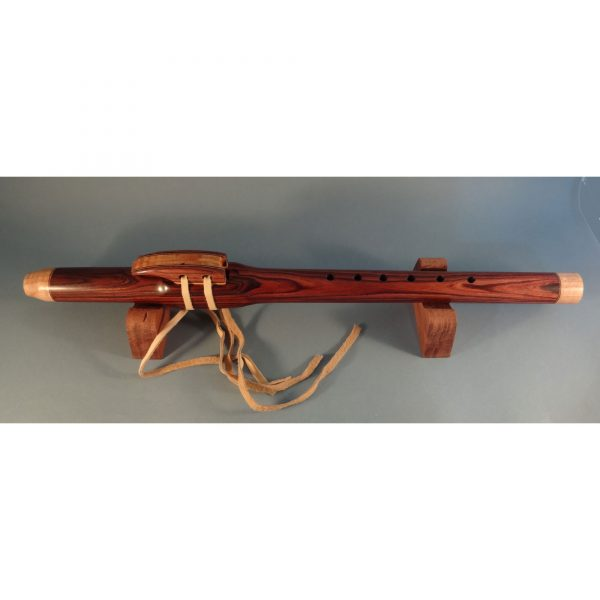 handmade rosewood wooden flute with inlay