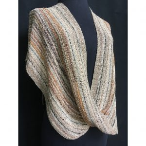 beige handwoven cotton swoop poncho
