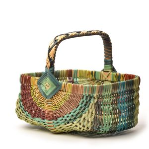 colorful rainbow handmade egg basket