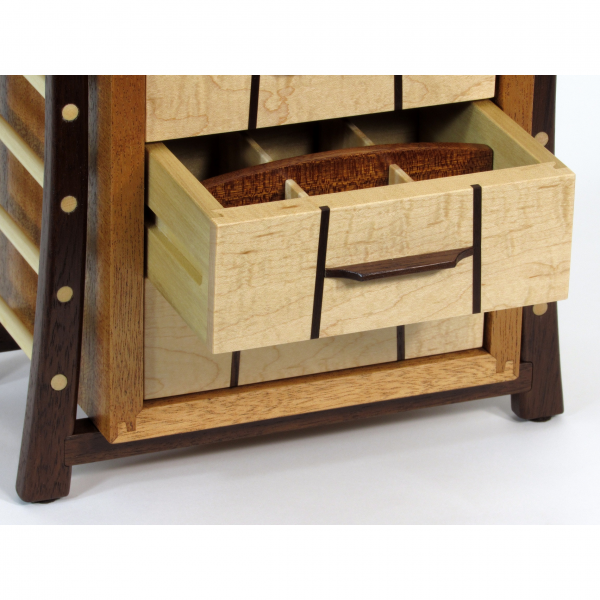 hand crafted wooden jewelry box, tn woodworker shaker box