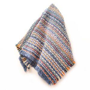 slate blue handwoven cotton napkin