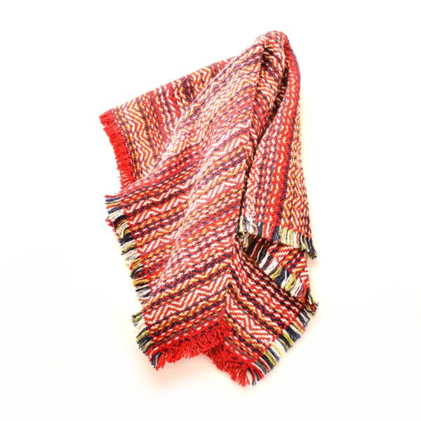 red handwoven cotton napkin