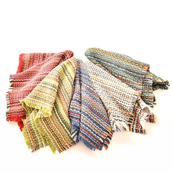 selection of handmade woven cotton napkins