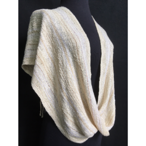 ivory off white handwoven shawl