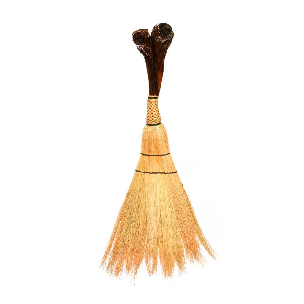 et broom, unique handmade artistic broom, mountain home decor, traditional broommaker