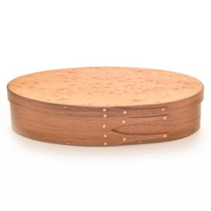 wooden long oval shaker presentation box