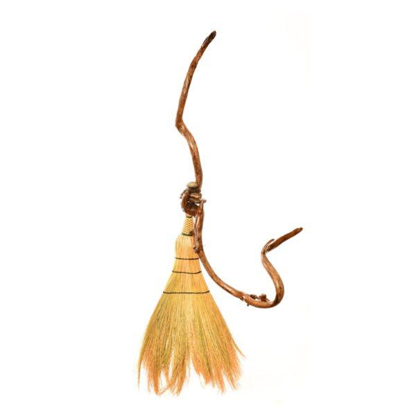 artistic handmade broom by marlow gates of north carolina, traditional broommaking
