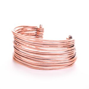 cuff bracelet, multiple wires of copper