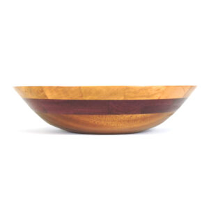 handmade wood bowl with different color woods