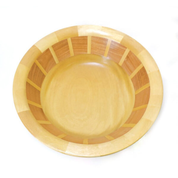 light yellow turned wood bowl, nc woodworker