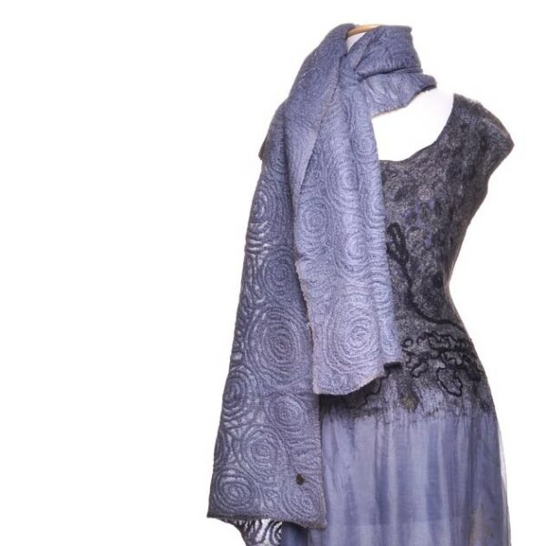 smokey purple wool scarf