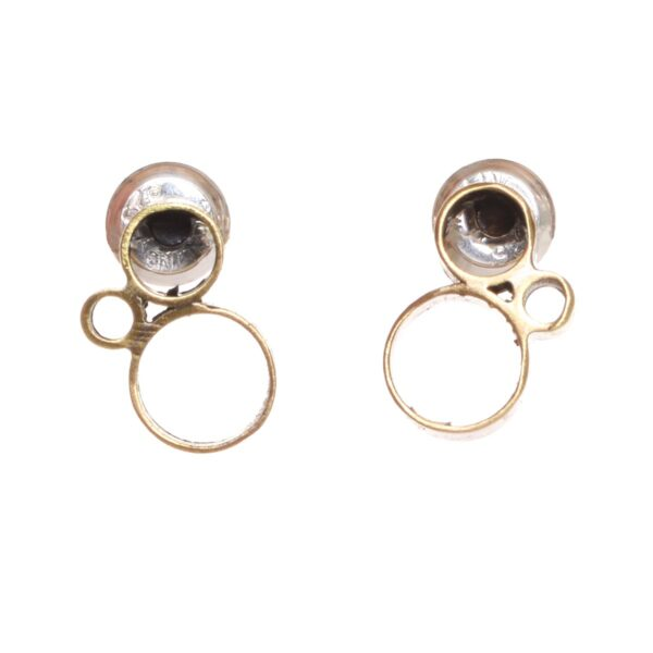 small handmade unique brass post earrings with circles