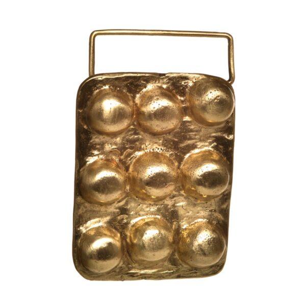 handmade brass belt buckle, cast brass buckle