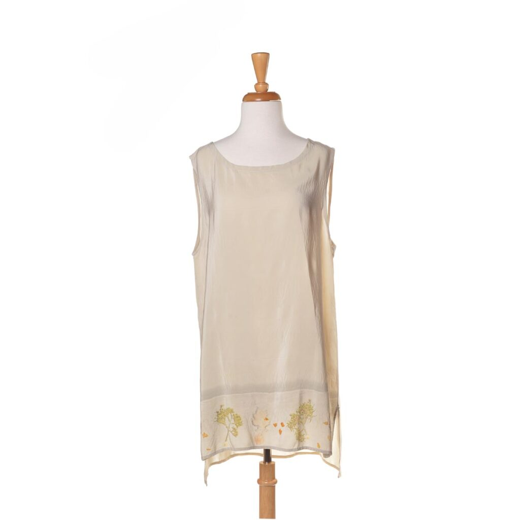 eco printed silk top