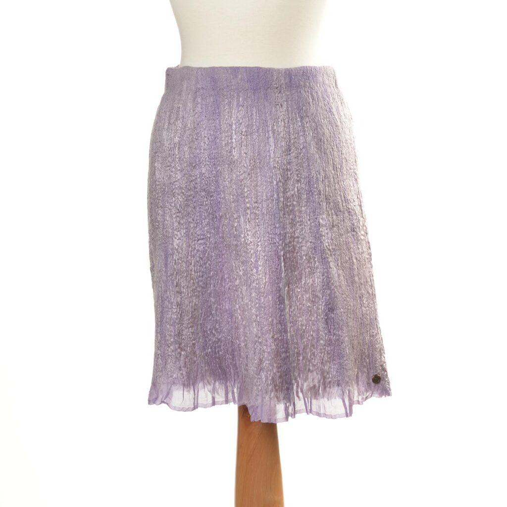 purple wool handmade skirt