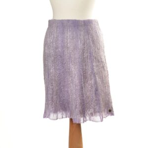 purple wool handmade skirt