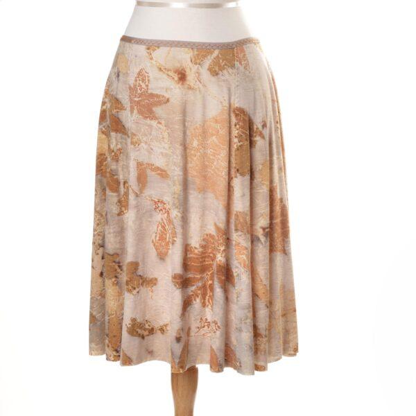 white and gold handmade eco printed skirt