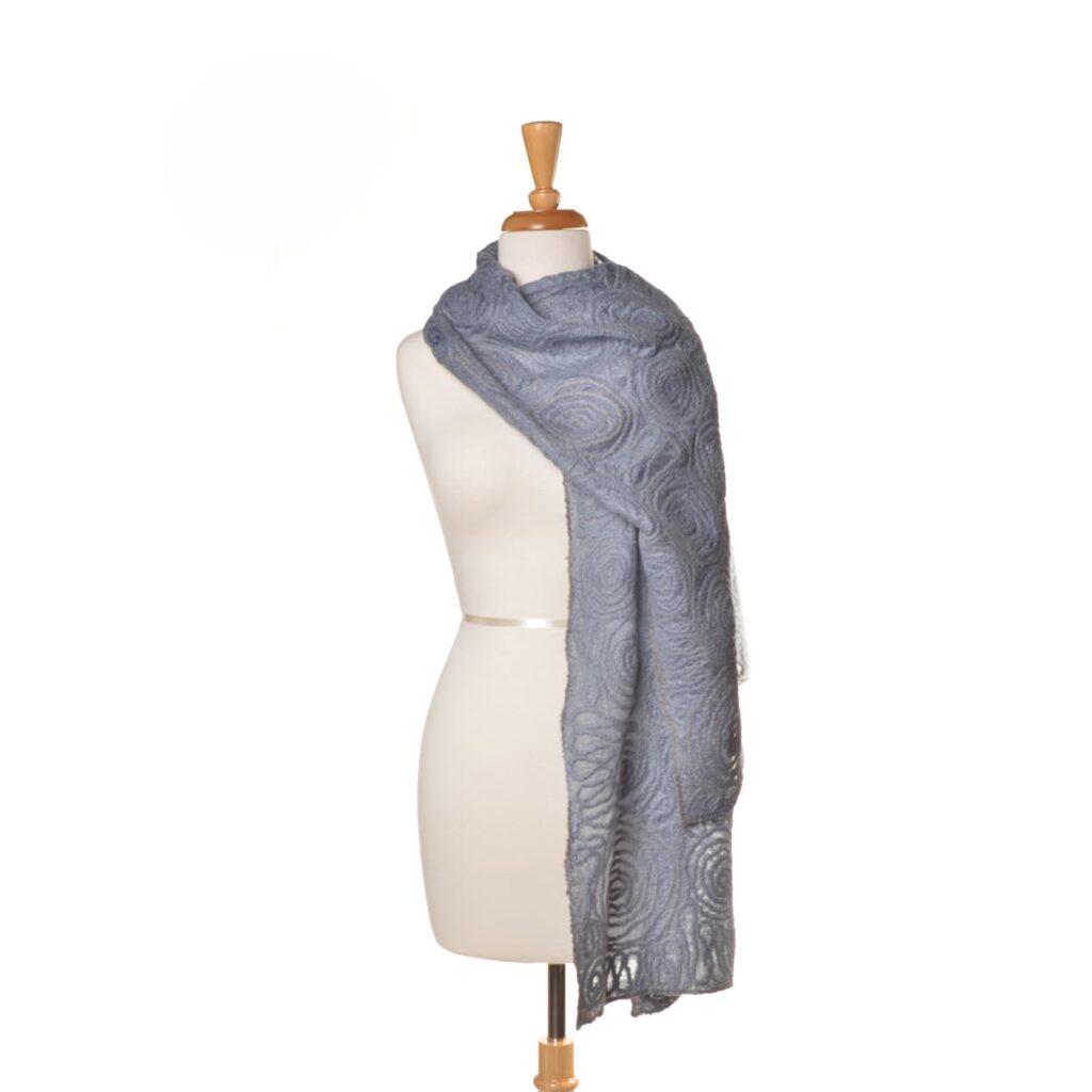 light purple shawl, handmade purple shawl