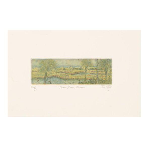 marsh beach etching
