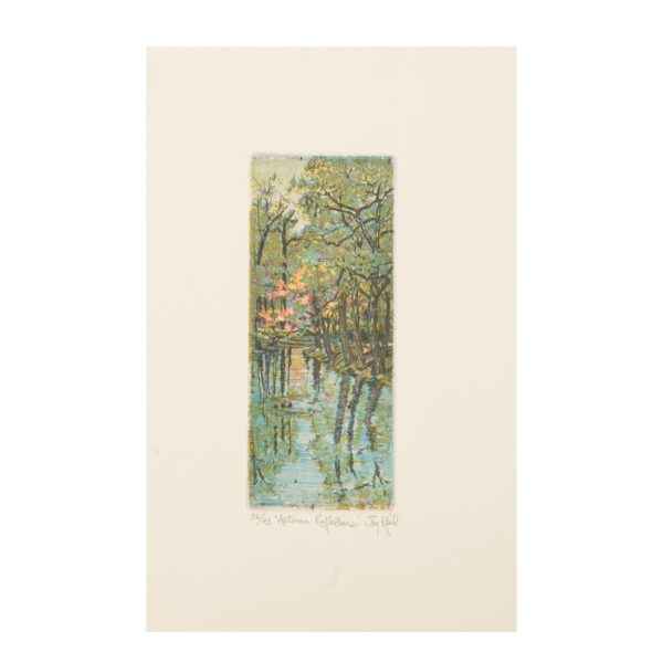 small handmade nature etching print
