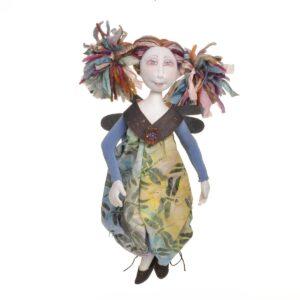 rainbow angel fairy, handmade fairy doll