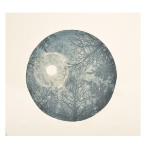 full moon etching