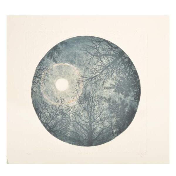 full moon etching