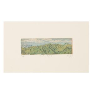 small mountian vista etching