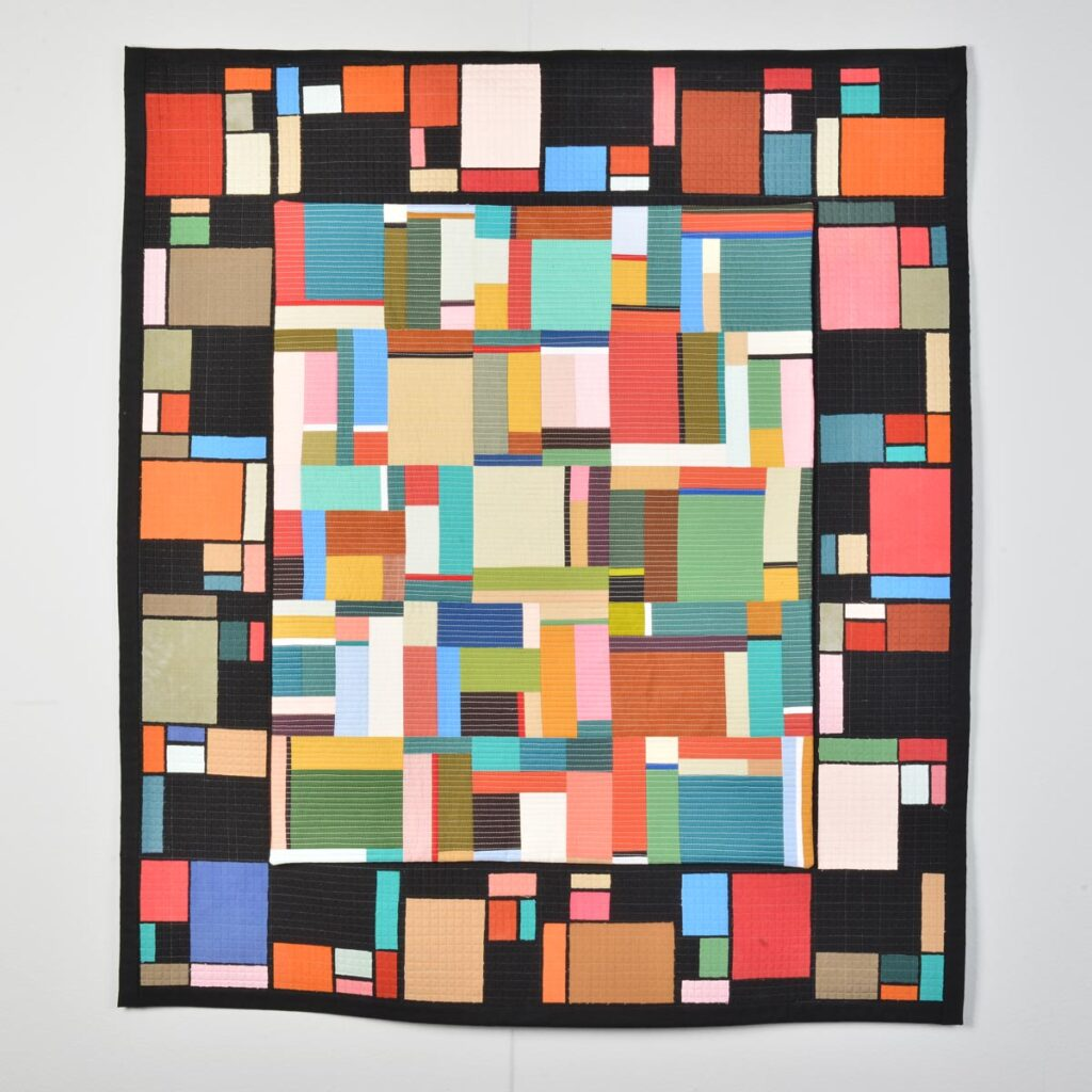 handmade colorful quilt