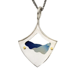 artentium silver and colored titanium handmade blue ridge parkway necklace