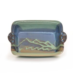 ceramic tea loaf pan, handmade mountain baking dish