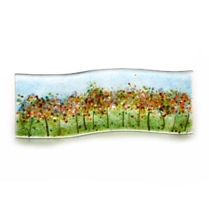 glass flower landscape with flowers