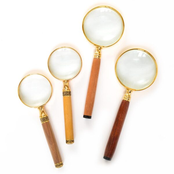 turned wooden handle magnifying glass, winchester woodworks