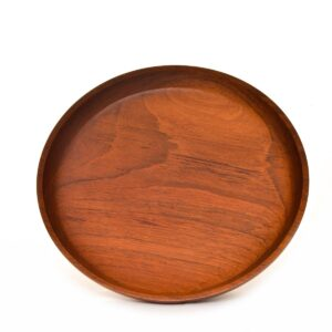 turned brazilian cherry wood platter