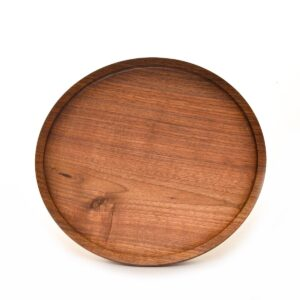 black walnut handmade turned tray, black walnut platter