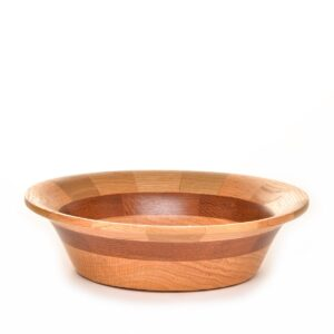 small turned segmented bowl