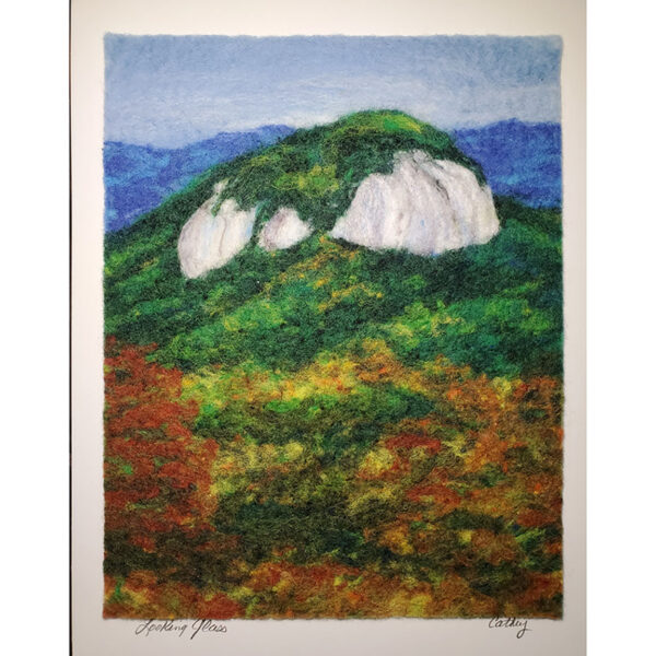 Looking Glass Rock Face mountain felted landscape