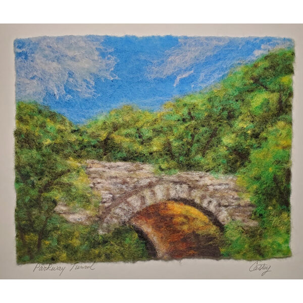 Parkway Tunnel felted fall landscape
