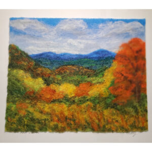 Fall Colors Mountain felted landscape