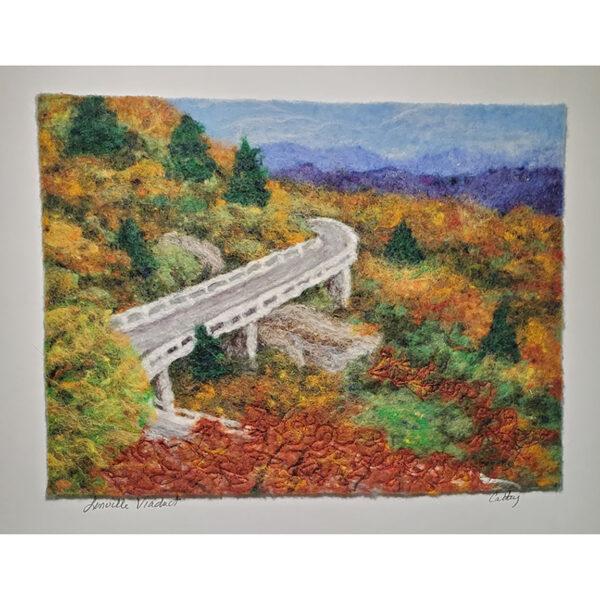 Linville Viaduct blue ridge parkway felted landscape