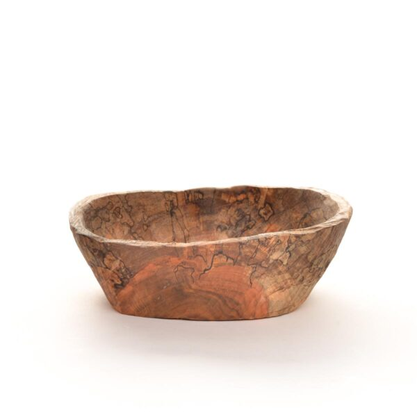 spalted maple hand carved bowl