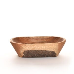 hand carved butternut wooden bowl