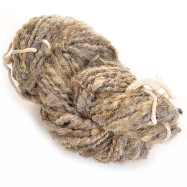 gray hand spun yarn