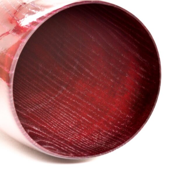 dyed red ash vase