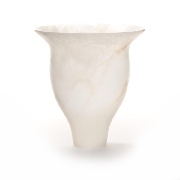 italian ice alabaster vessel turned on the lather