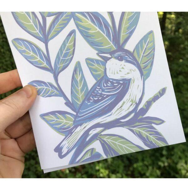 handmade bird notecard