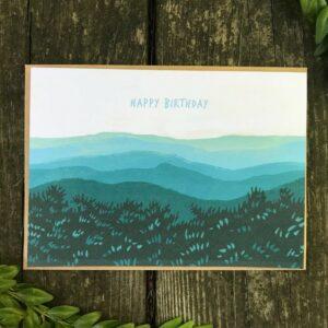 mountain birthday card