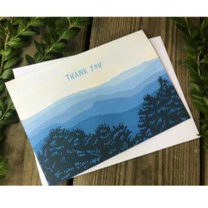 thank you mountain card