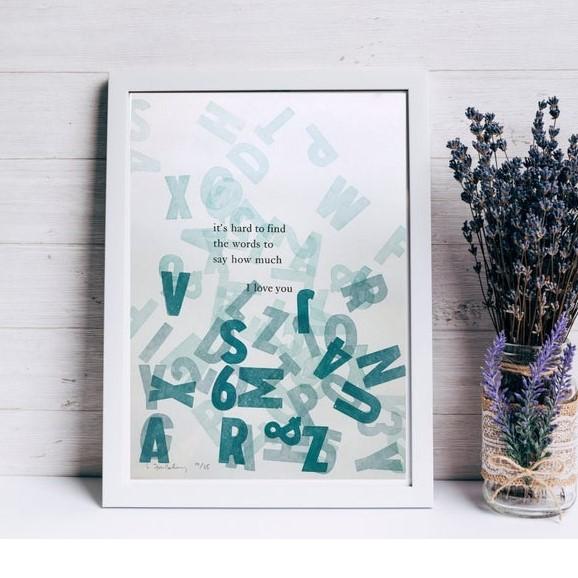 love print, handmade letterpress print